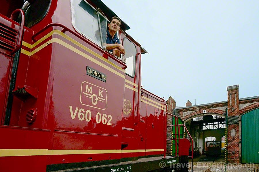Ostfriesland, Peter Zinsli, Museumseisenbahn Küstenbahn Ostfriesland (MKO), V60 062