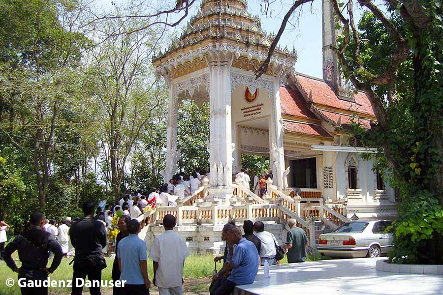 Phuket, Tempel, Wat Rüa, Beerdigungszeremonie