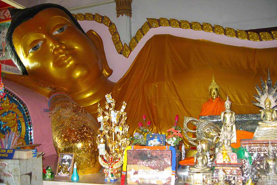 Phuket, Wat Siray, Sirey, Sirae, liegender Buddha