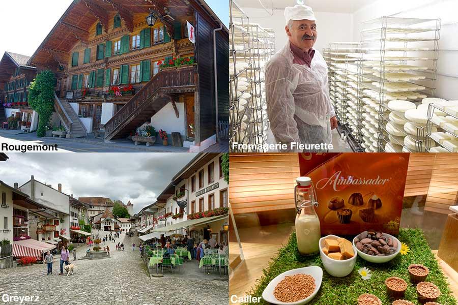 Schweiz, Waadt, Rougemont, Bauernhaus, Kaeser Michel Beroud, Fleurette, Caillier, Schokolade, Fuehrung, Greyerz, historisches Dorf, Schloss