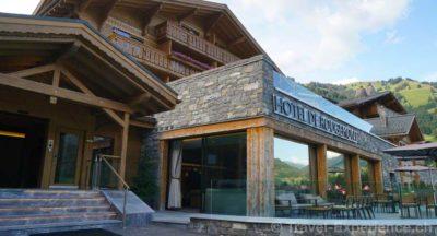 Schweiz, Waadt, Rougemont, Hotel de Rougemont, aussen Schweiz, Waadt, Rougemont, Hotel de Rougemont, Willkommen