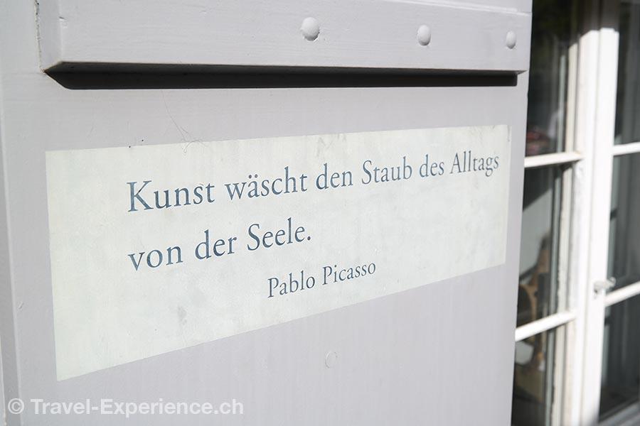 Zuerich, Schipfe, Picasso, Zitat