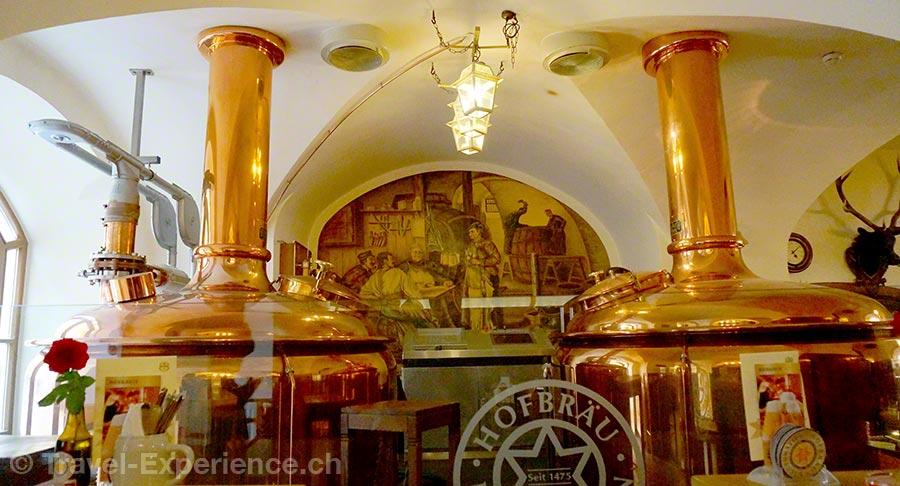 Salzburg, Bier, Kaltenhausen, Braukessel, Kupferkessel, Gaststube