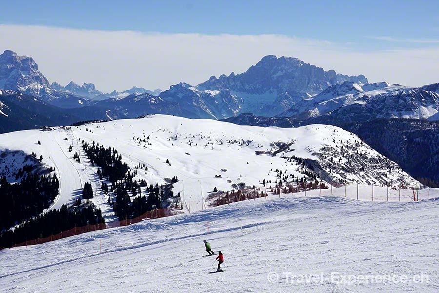 Südtirol, Corvara, Piz Boe, Skiläufer
