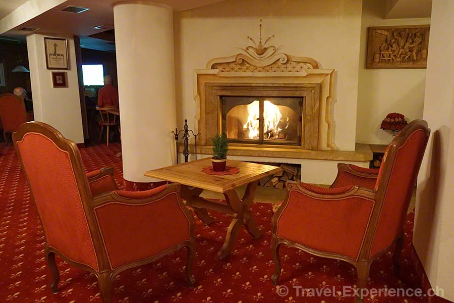 Südtirol, Corvara, Hotel Sassongher, Kamin, Feuer