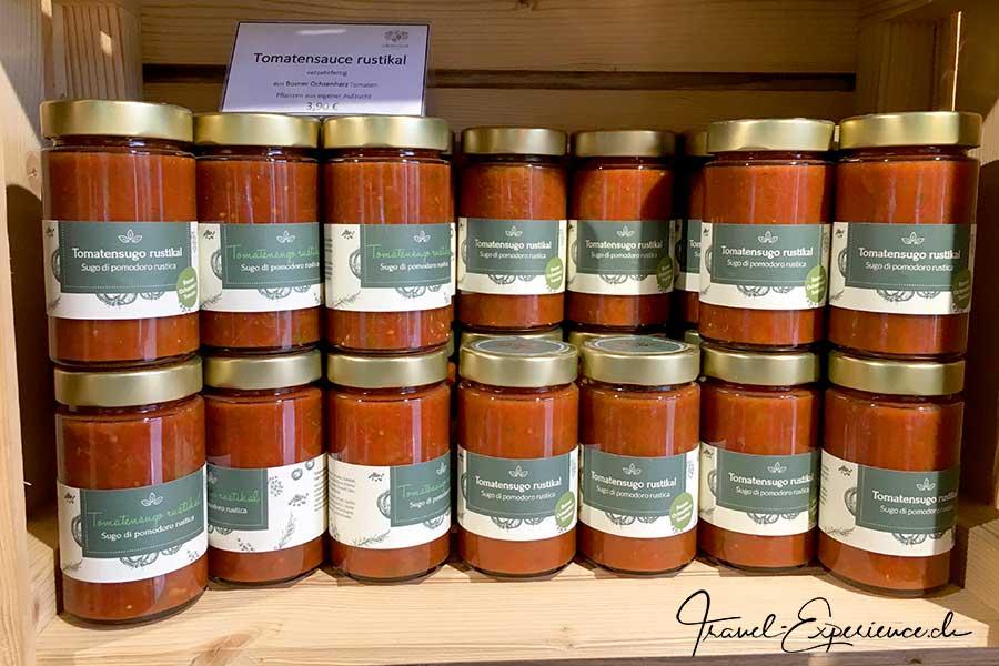 Italien, Schenna, Oberhaslerhof, hausgemachte Tomatensauce