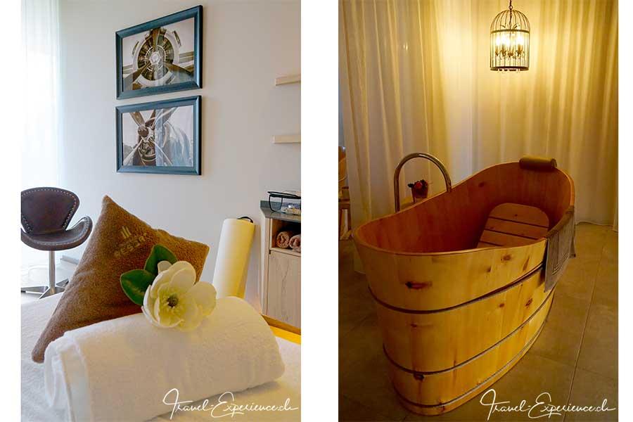 Italien, Suedtirol, Schenna, Resort, Behandlungsraum, Maenner, Badezuber