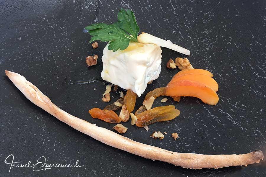 Italien, Suedtirol, Schenna, Resort, Gourmet, Abendessen, Gorgonzola, Vinschgau, Marillen, Grissini