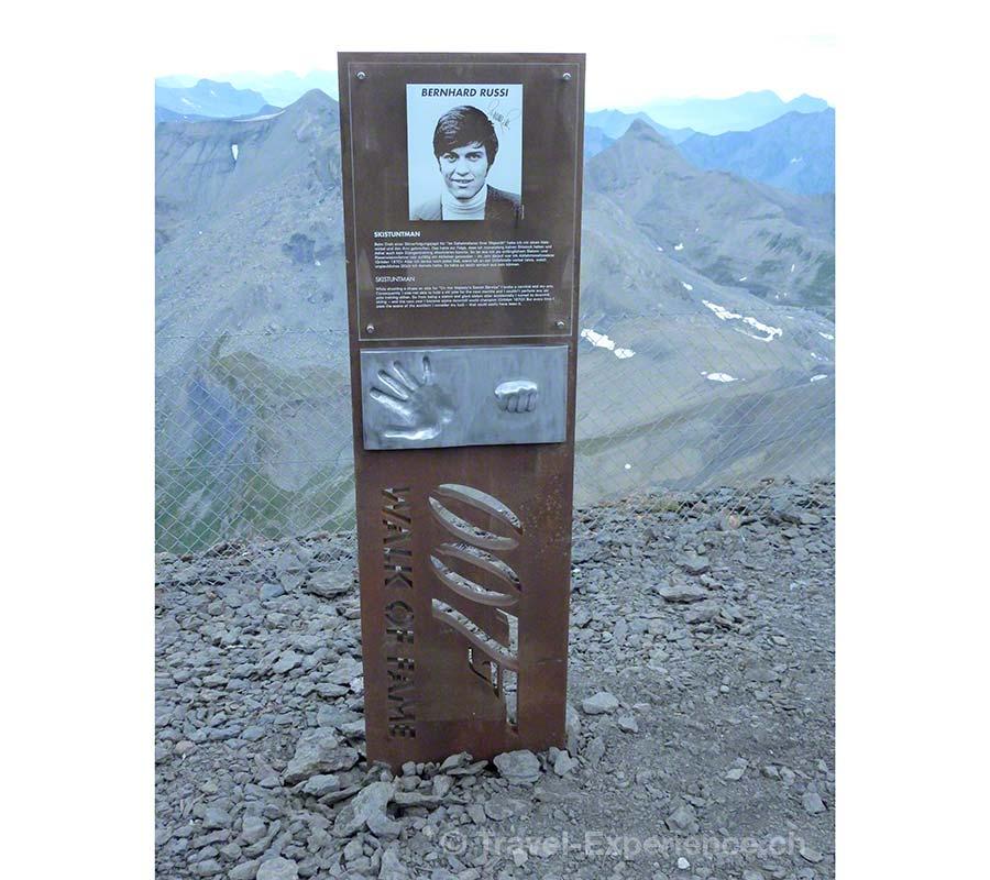 Schilthorn, 007 Walk of Fame, Stehle, Bernhard Russi