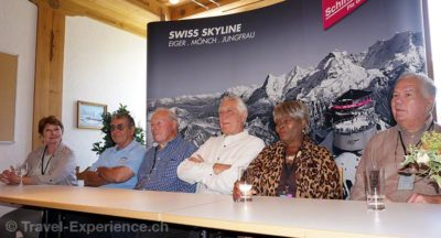 Catherine von Schell («Nancy»), Vic Armstrong (Stuntman), John Glen (Regisseur), George Lazenby («007 James Bond»), Sylvana Henriques («The Jamaican Girl»), Terry Mountain («Raphael»), «007 Walk of Fame», Schilthorn.