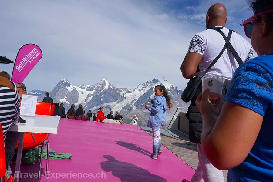 Schilthorn, Birg, Skyline Walk, Eiger, Mönch, Jungfrau