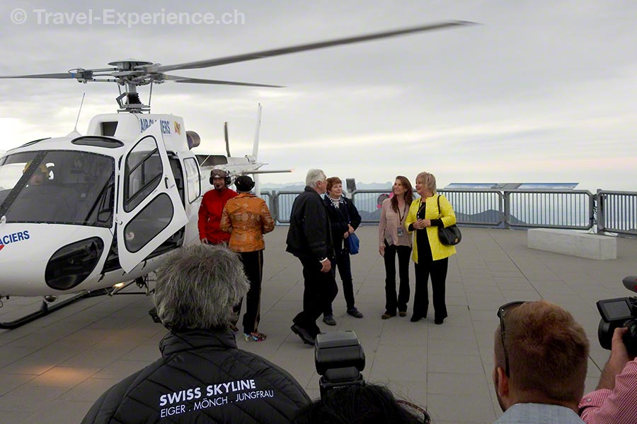 Schilthorn, Piz Gloria, Helikopter, James Bond, George Lazenby, Bond-Girls