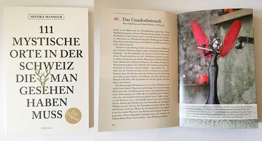 Buch, cover, 111 mystische Orte in der Schweiz