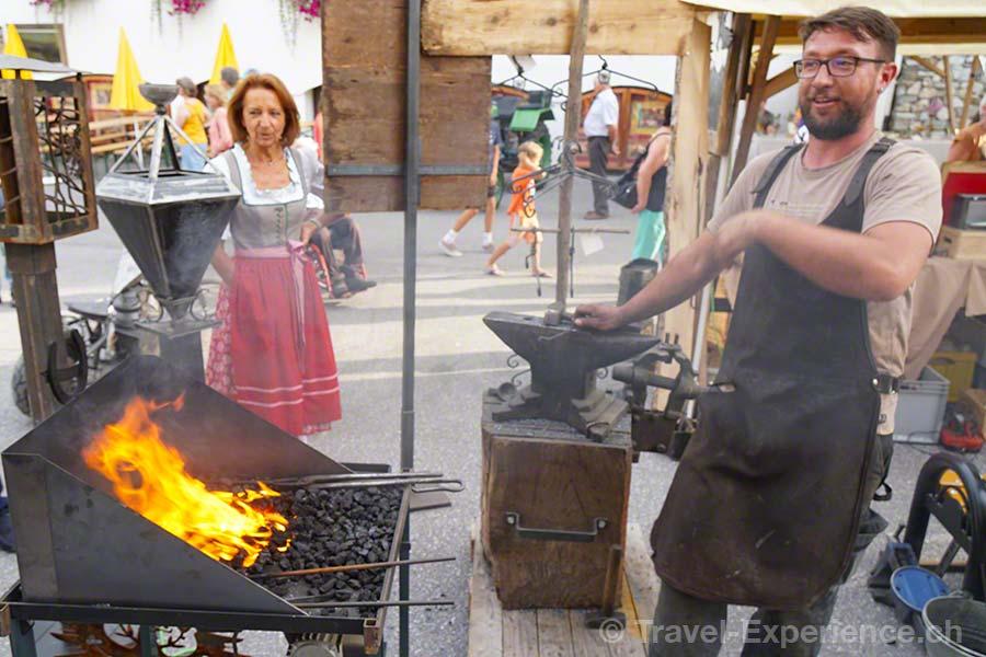 oesterreich, tirol, olympiaregion seefeld, Handwerksfest, Handwerkermarkt, altes handwerk, Nagelschmied