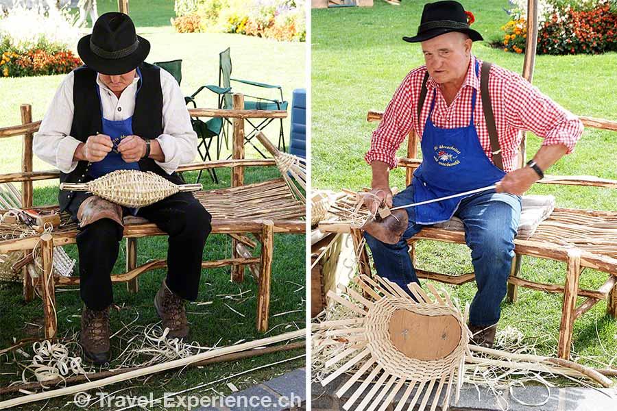 oesterreich, tirol, olympiaregion seefeld, Handwerksfest, Handwerkermarkt, altes handwerk, Korbflechter