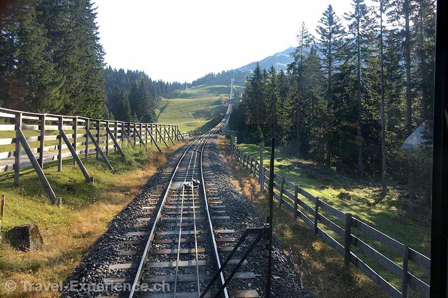 Oesterreich, Tirol, Olympiaregion Seefeld, Standseilbahn, Rosshuette express, Bergfahrt