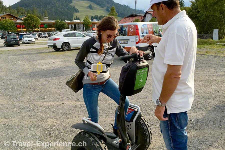 Oesterreich, Tirol, Olympiaregion Seefeld, Segway Tour, Steffi Kratzer,