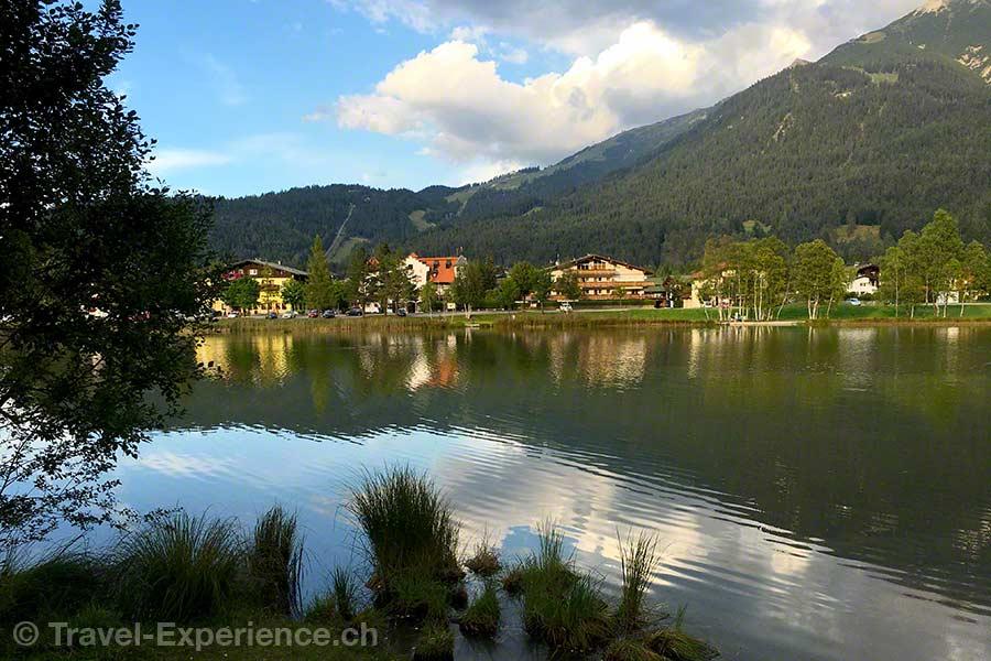 Oesterreich, Tirol, Olympiaregion Seefeld, Segway Tour, Wildsee, Abendlicht
