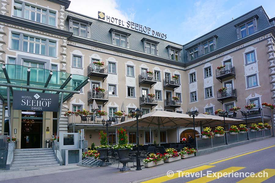 Hotel Seehof Davos, Aussenansicht