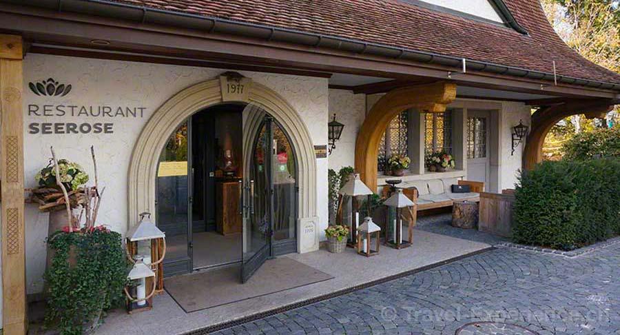 Seerose Resort & Spa, Meisterschwanden, Hallwilersee, Restaurant, Eingang