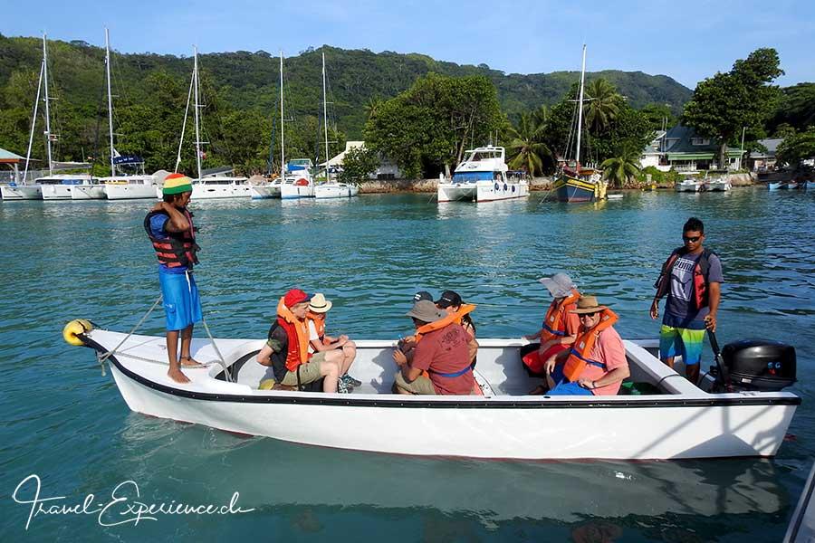 Seychellen, Sea Star, La Digue, Dingi