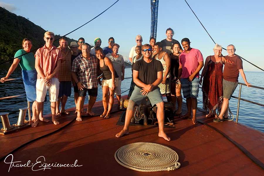 Seychellen, Sea Star, Crew und Gaeste, Gruppenfoto, Erinnerung