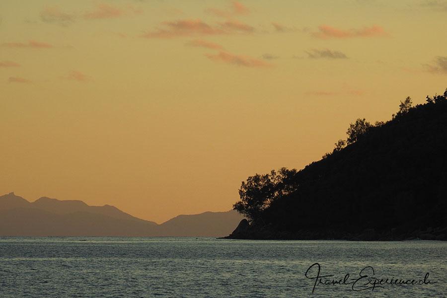 Seychellen, Sea Star, Praslin, Sonnenuntergang, goldene Abendstimmung,