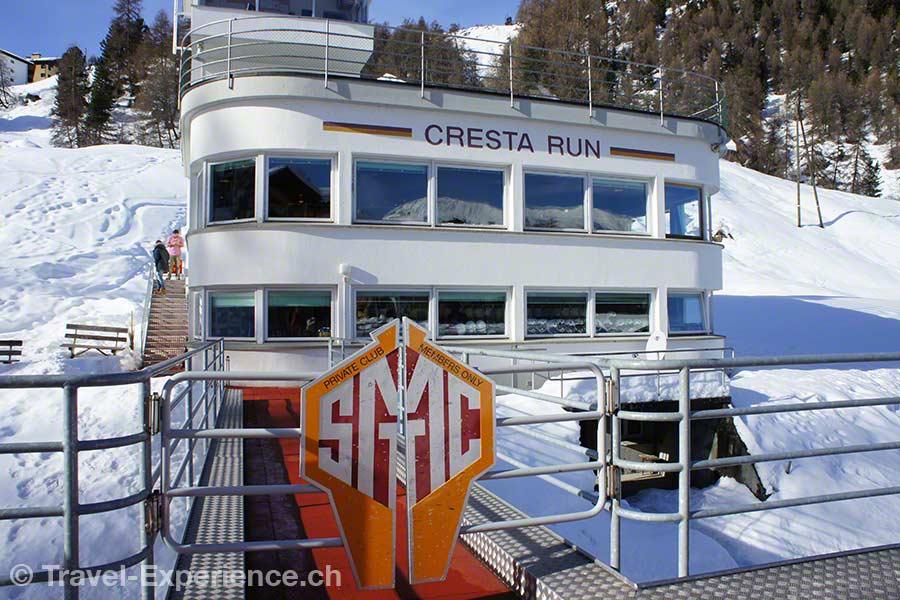 Schweiz, Graubünden, St. Moritz, Cresta Run, Clubhaus