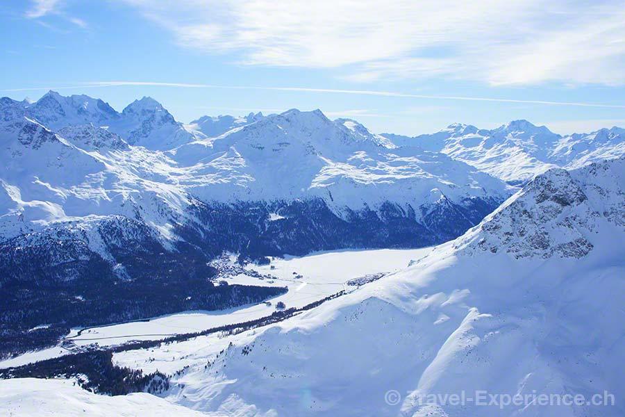 Schweiz, Graubünden, St. Moritz, Corviglia, Piz Nair,