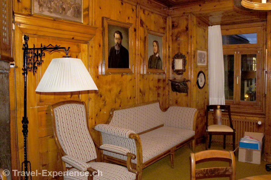 Schweiz, Graubünden, St. Moritz, historisches Büro, Kulm Hotel