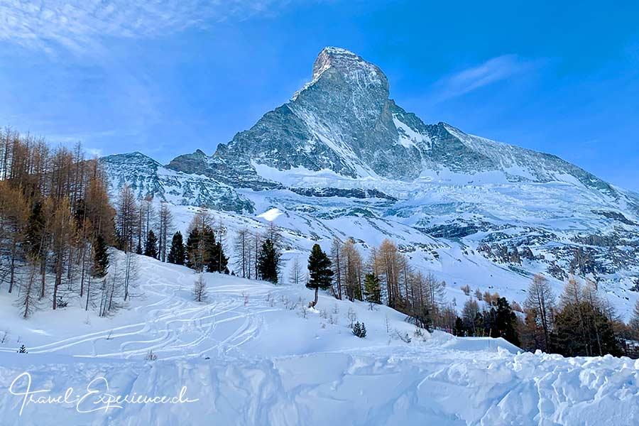 Schweiz, Wallis, Zermatt, Bergrestaurant Stafelalp, Matterhorn, Nordwand,