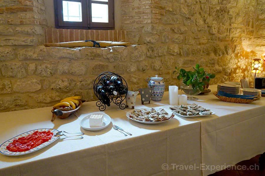 Italien, Umbrien, Castello Monticelli, Mittagessen, Tomaten