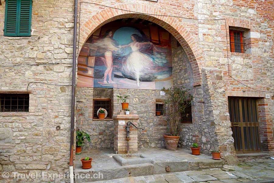 Italien, Umbrien, Mugnano, Wandgemälde, Fresken