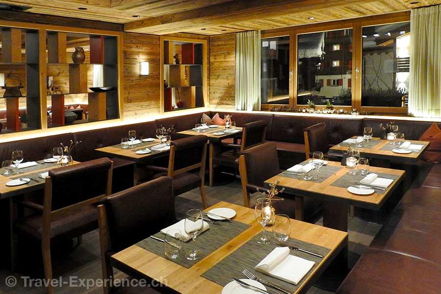 Saas-Fee, Hotel The Capra, brasserie
