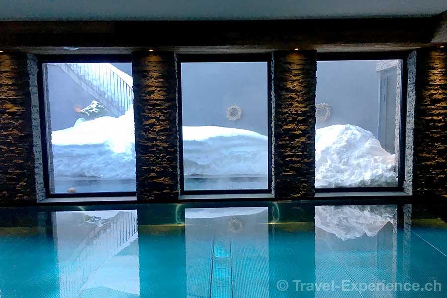 Saas-Fee, Hotel The Capra, pool
