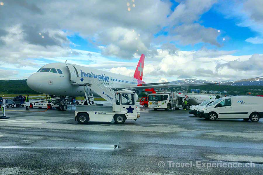 Norwegen, Nordnorwegen, Tromso, Helvetic Airways, Flughafen