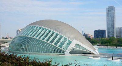 Valencia, Stadt der Künste und Wissenschaften, Hemisferic Valencia, Stadt der Künste und Wissenschaften, Umbracle Valencia, Stadt der Künste und Wissenschaften, Agora