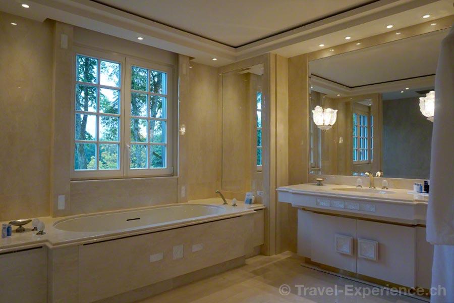 Villa René Lalique, Wingen-sur-Moder, Elsass, Hotel, Hideaway, Suite Rose, Badezimmer