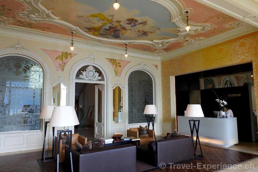 Hotel Vitznauerhof, Vitznau, Vierwaldstaettersee, Lobby, Rezeption