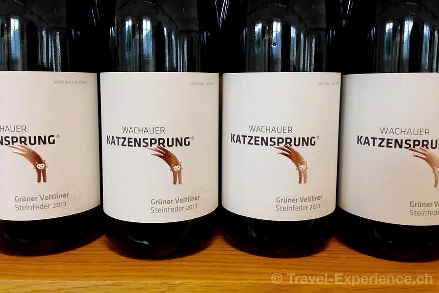 Wachau, Dürnstein, Domäne Wachau, Wein, Grüner Veltlliner, Katzensprung Steinfeder