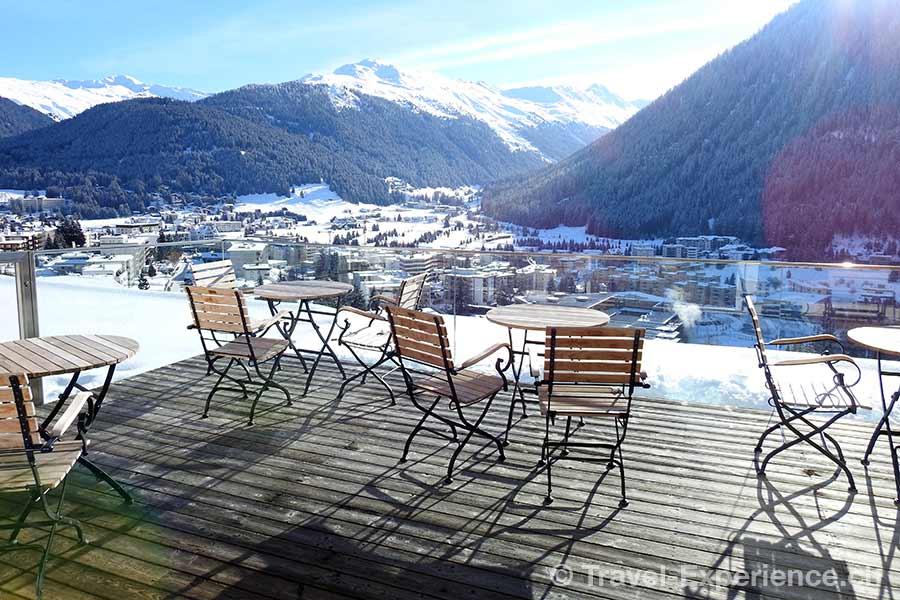 Schweiz, Davos, Waldhotel, Terrasse, 5. Stock, 5. Etage