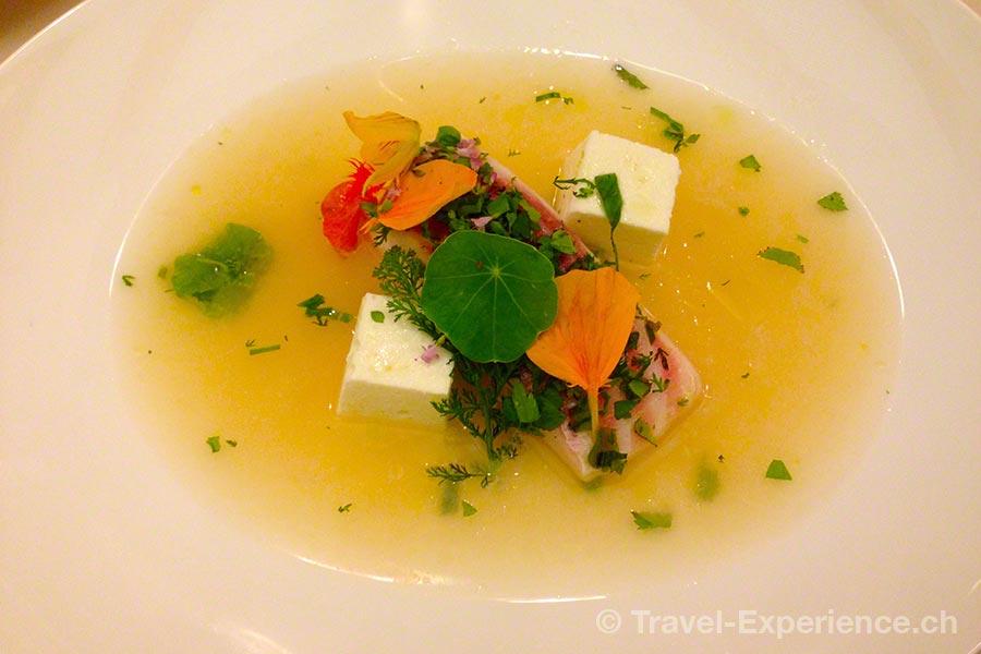 Kärnten, Weissensee, Die Forelle, Fischsuppe