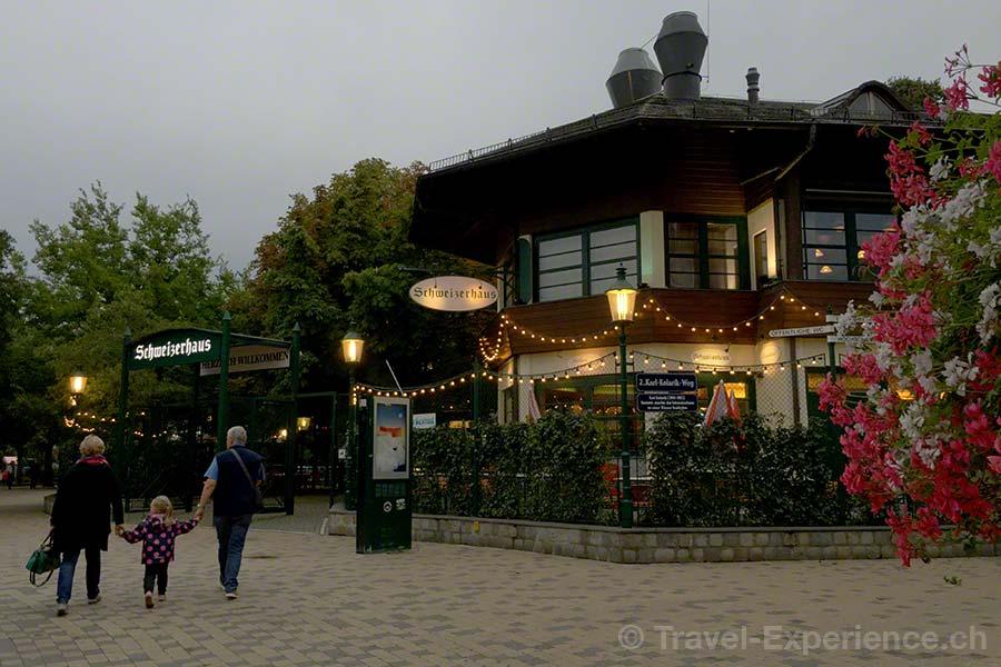 oesterreich, Wien, Prater, Restaurant Schweizerhaus