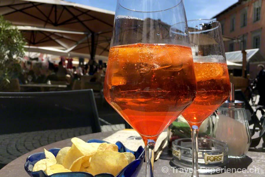Italien, Suedtirol, Sterzing, Parkhotel zum Engel, Veneziano, Aperol spritz