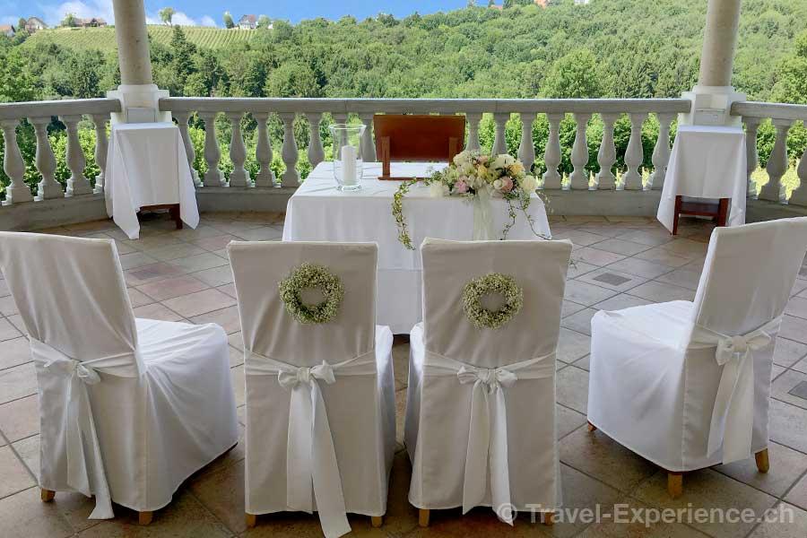 Steiermark Weingut Thaller Hochzeitspavillon