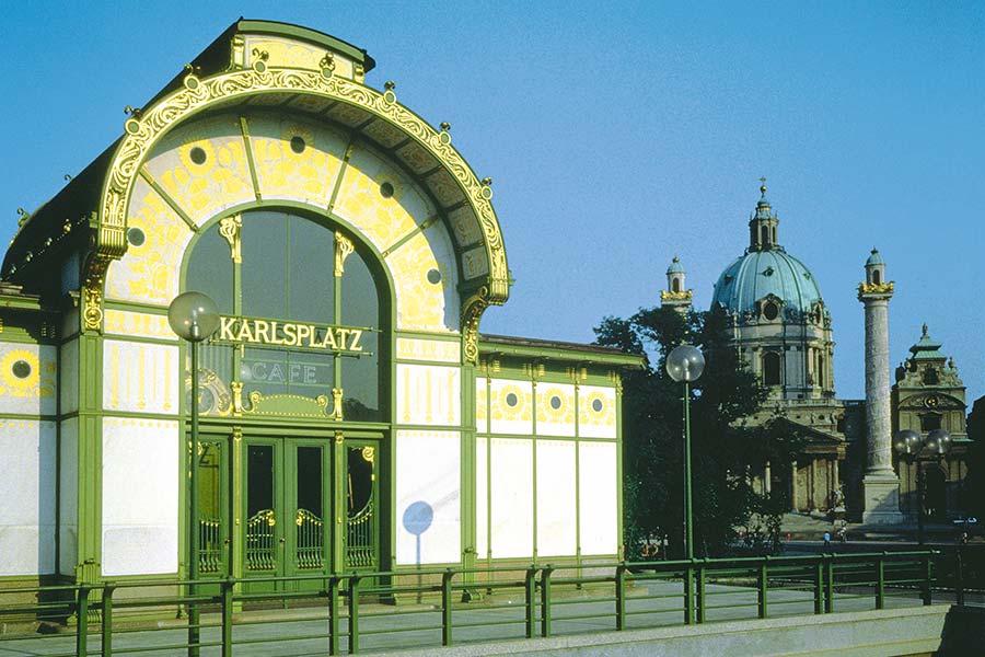 Wien, Karlsplatz, Pavillon