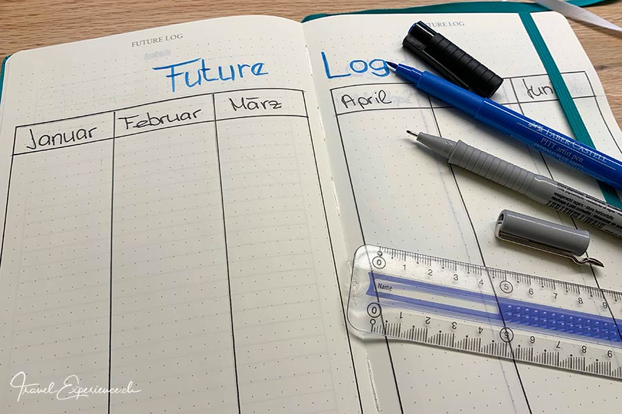 Bullet Journal, Future Log