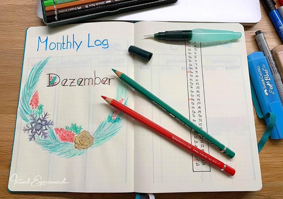 Bullet Journal, Montly Log