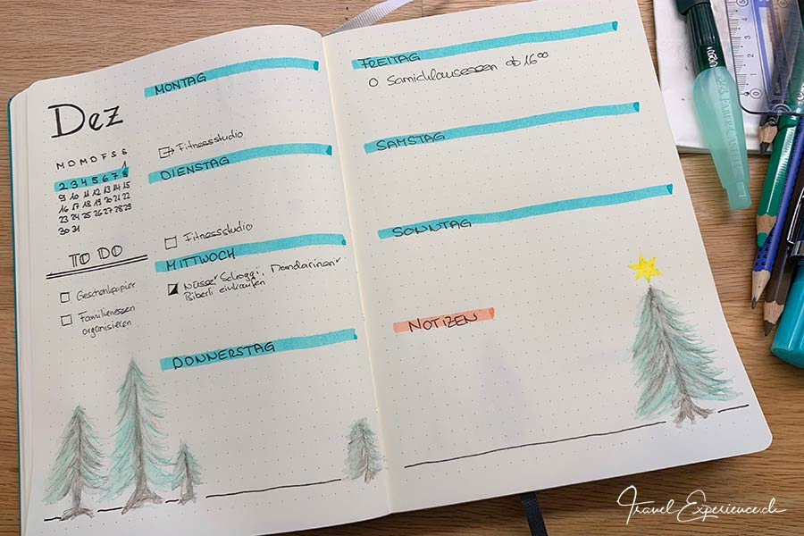Bullet Journal, Weekly Log