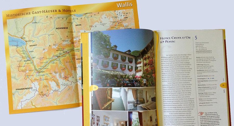 Historische Gasthaeuser und Hotels im Wallis